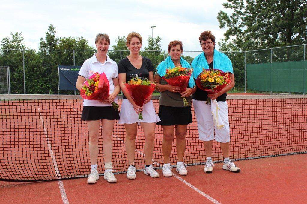 Finalisten Open Toernooi 2012 - Winnaars DD 7 2012 - Joke de Wild en Ida Willemse