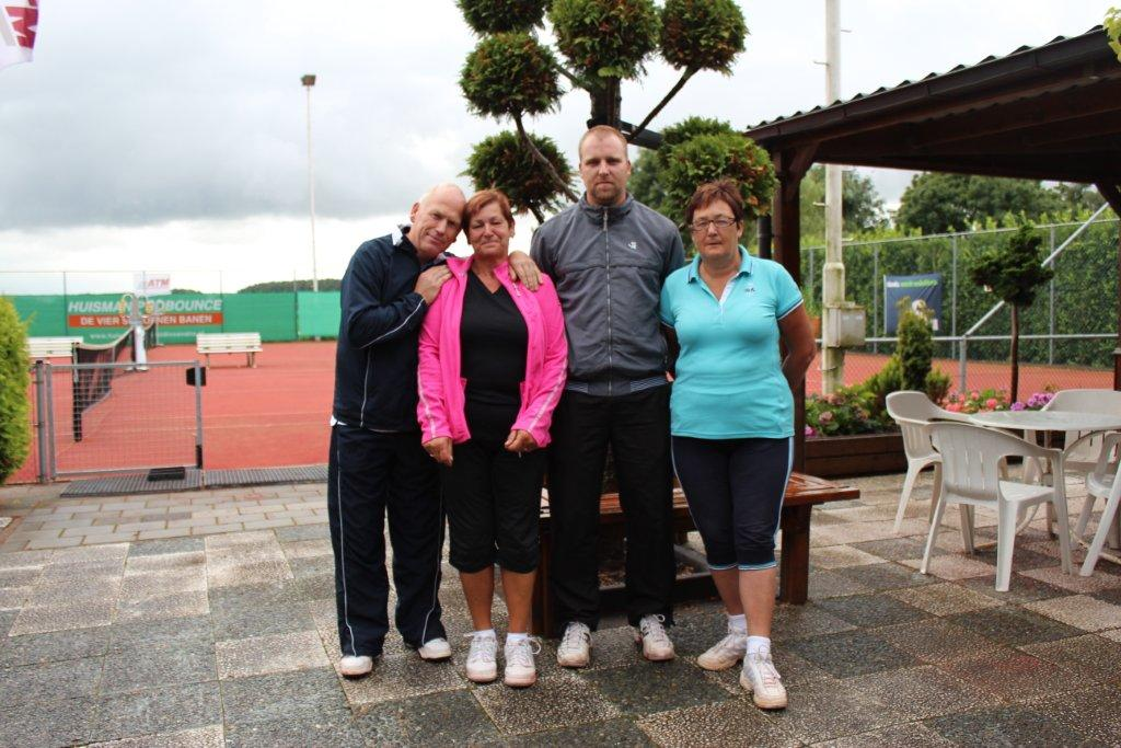 Finalisten Open Toernooi 2012 - Finalisten GD 7 2012 - Nico en Joke de Wild vs Edwin van Ginneke en Cisca van Brenkelen