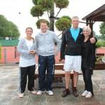 Finalisten Open Toernooi 2012 - Finalisten GD 6 2012 - Jim Schouwenaars en Bente Hemmes vs Alex Hollemans en Margot Vermeulen